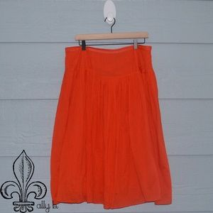 🧡Neiman Marcus Orange Skirt🧡